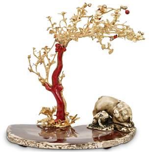 "Simon Yavitz ""Summers End"" 18k Gold Botanical Sculpture"
