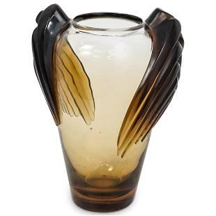 Lalique Amber Marrakech Crystal Vase