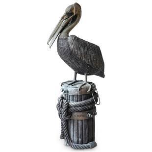 Cast Metal Nautical Pelican Fountain