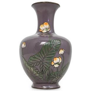 Japanese Meiji Moriage Cloisonne Vase