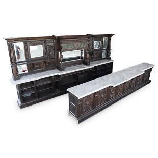 Monumental Wood & Marble Bar