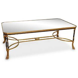 French Two-Toned Bronze Coffee Table
