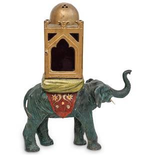 Franz Bergman Cold Painted Bronze Elephant Lantern