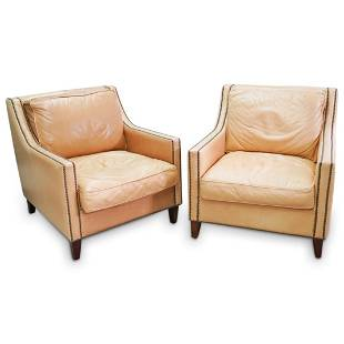 Pair of Elite Leather Club Chairs
