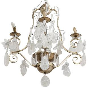Ornate Rock Crystal Chandelier