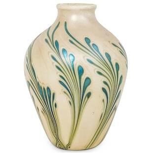 Vintage Lotton Art Glass Vase