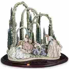 "Lladro ""Garden Party"" Porcelain Grouping"