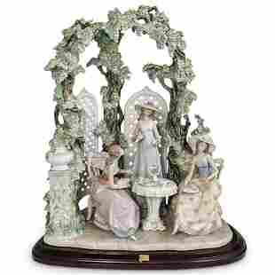 "Lladro ""Tea in the Garden"" Porcelain Grouping"