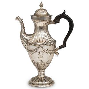 Antique Sterling Silver Empire Style Coffee Pot