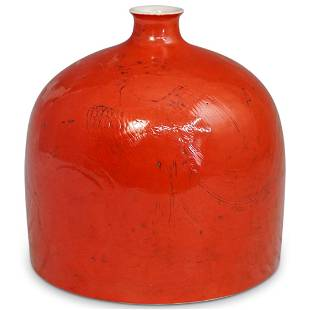 Chinese Monochrome Beehive Jar