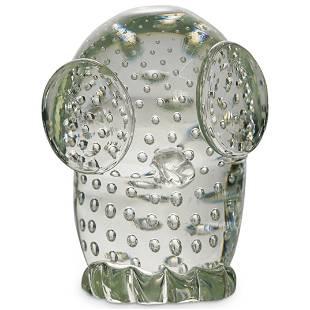 Murano Licio Zanetti Glass Owl Figurine