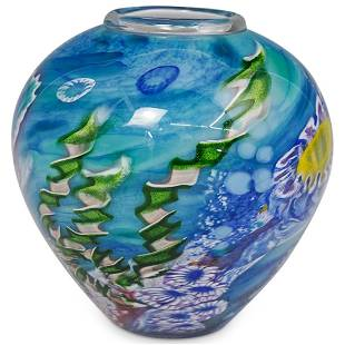 Chris Pantano Reef Art Glass Vase