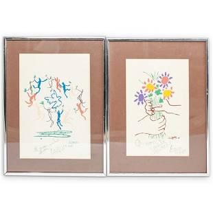 (2 Pc) Pablo Picasso (Spanish, 1881-1973) Lithographs