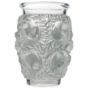 """Lalique Crystal """"Bagatelle"""" Vase"""