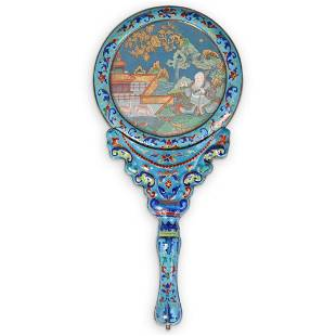 18th Cent. Chinese Imperial Enamel Hand Mirror