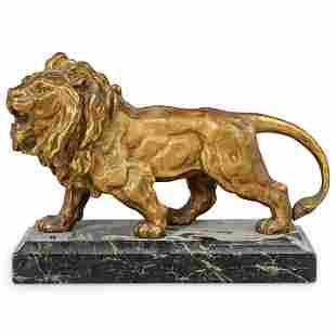 Antique European Lion Bronze