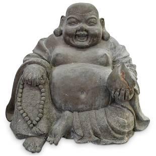 Antique Cast Metal Garden Buddha