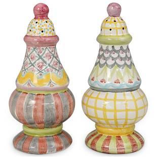 Mackenzie Childs Ceramic Sugar Shakers