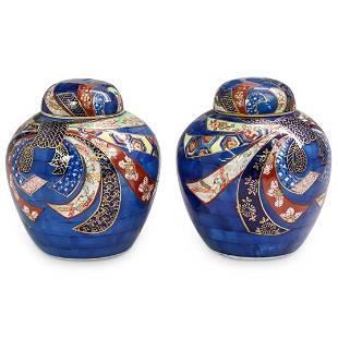 Gold Imari Porcelain Ginger Jars
