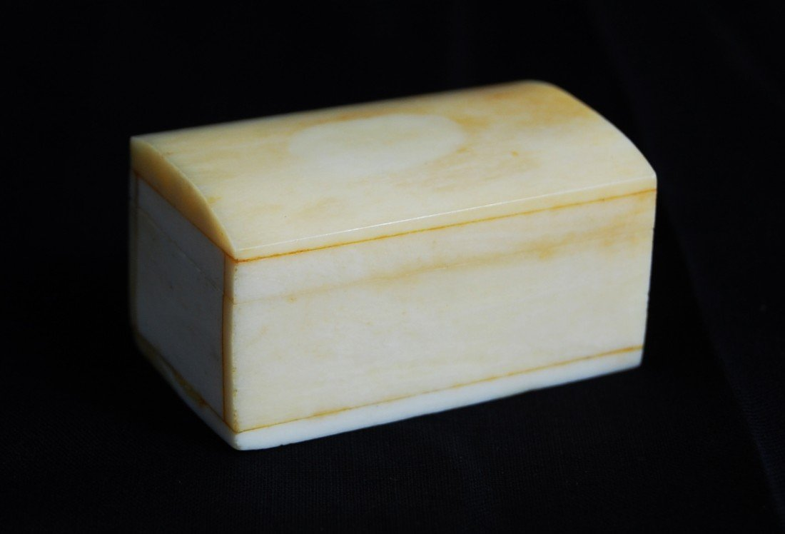 1: Ivory pillbox