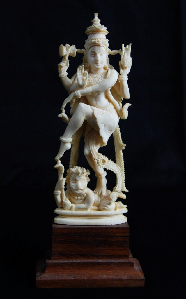 4: Ivory figurine with very detailed carving
