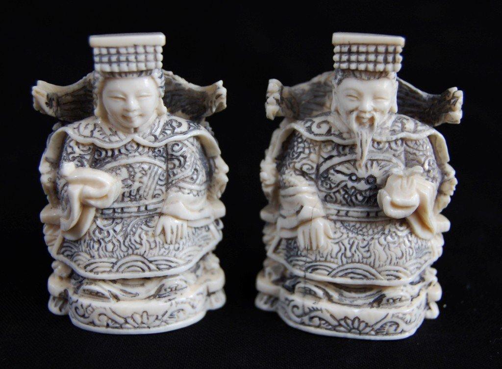17: Japanese ivory figurines