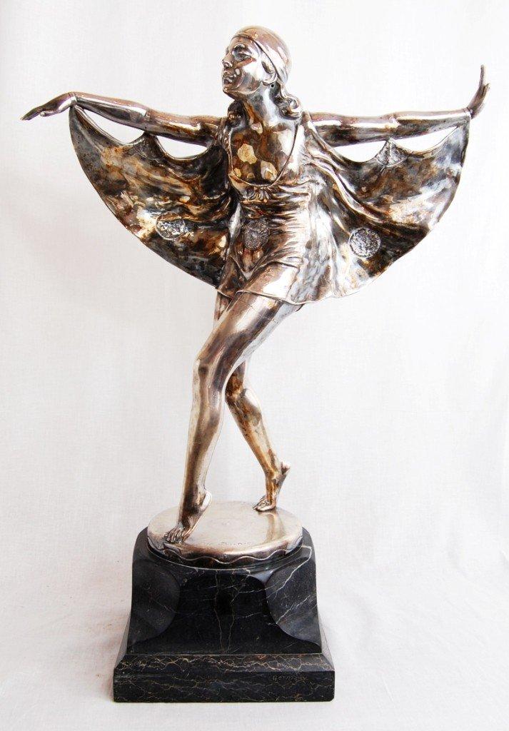 149: Otto Poertzel (1876-1963) silver bronze