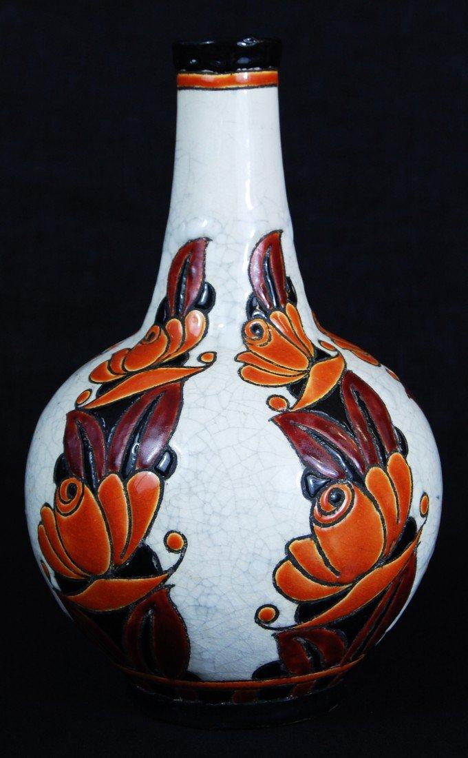 3: Boch Freres Keramis vase. Signed D. 1065