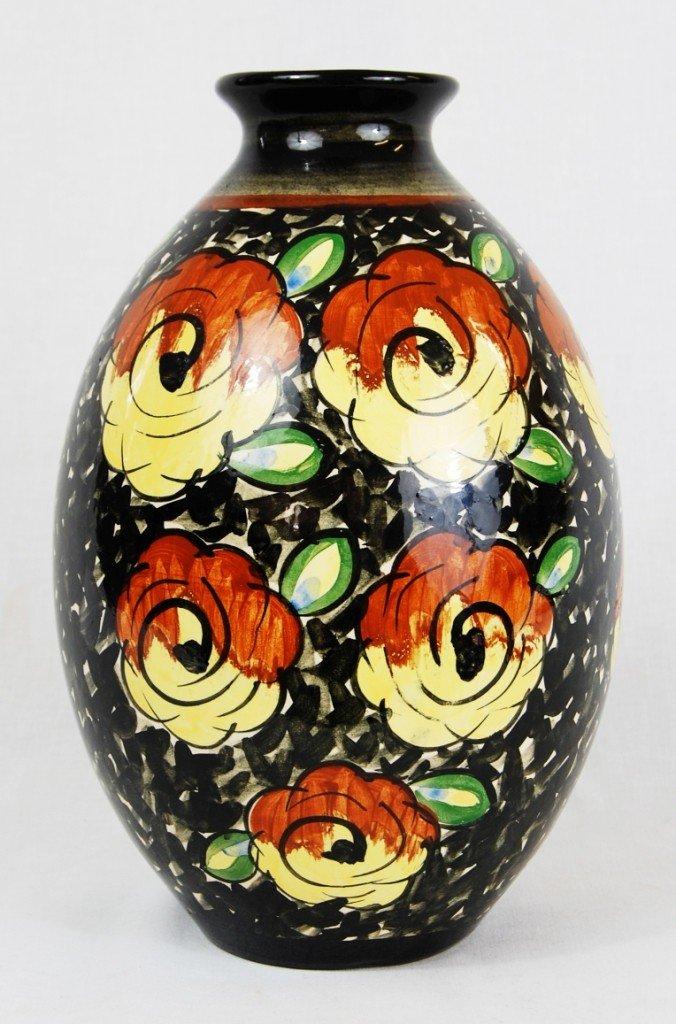 4: Boch Freres Keramis vase. Signed Keramis
