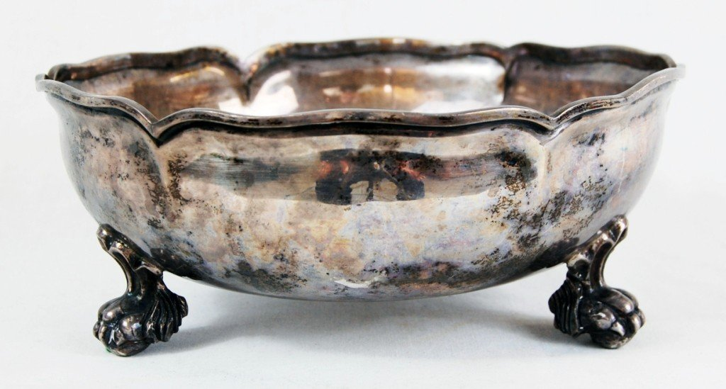 7: Sterling silver footed bowl