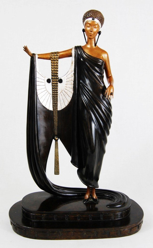 """8: Erte bronze. """"Sophisticated lady"""". Signed and dated"""