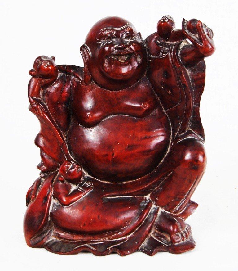 14: Chinese handcarved wood Buddha
