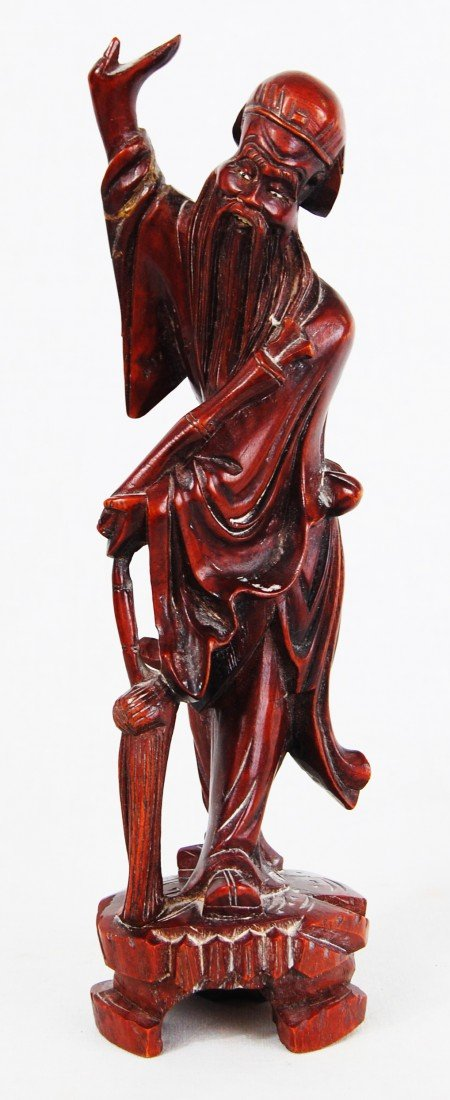 15: Chinese handcarved wood figurine