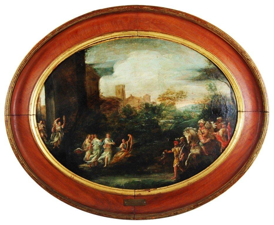 60: Francesco Trevisani (1656-1746) oil on canvas paint