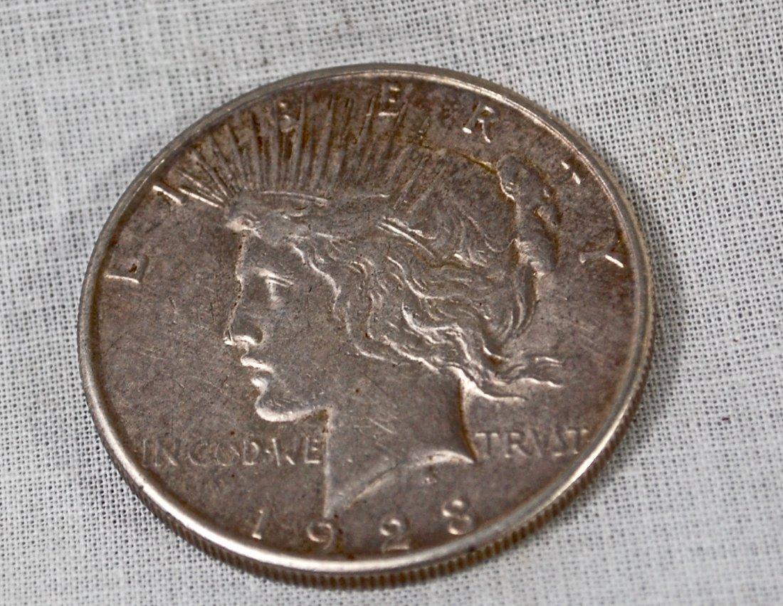 1: 1923 US Dollar silver coin