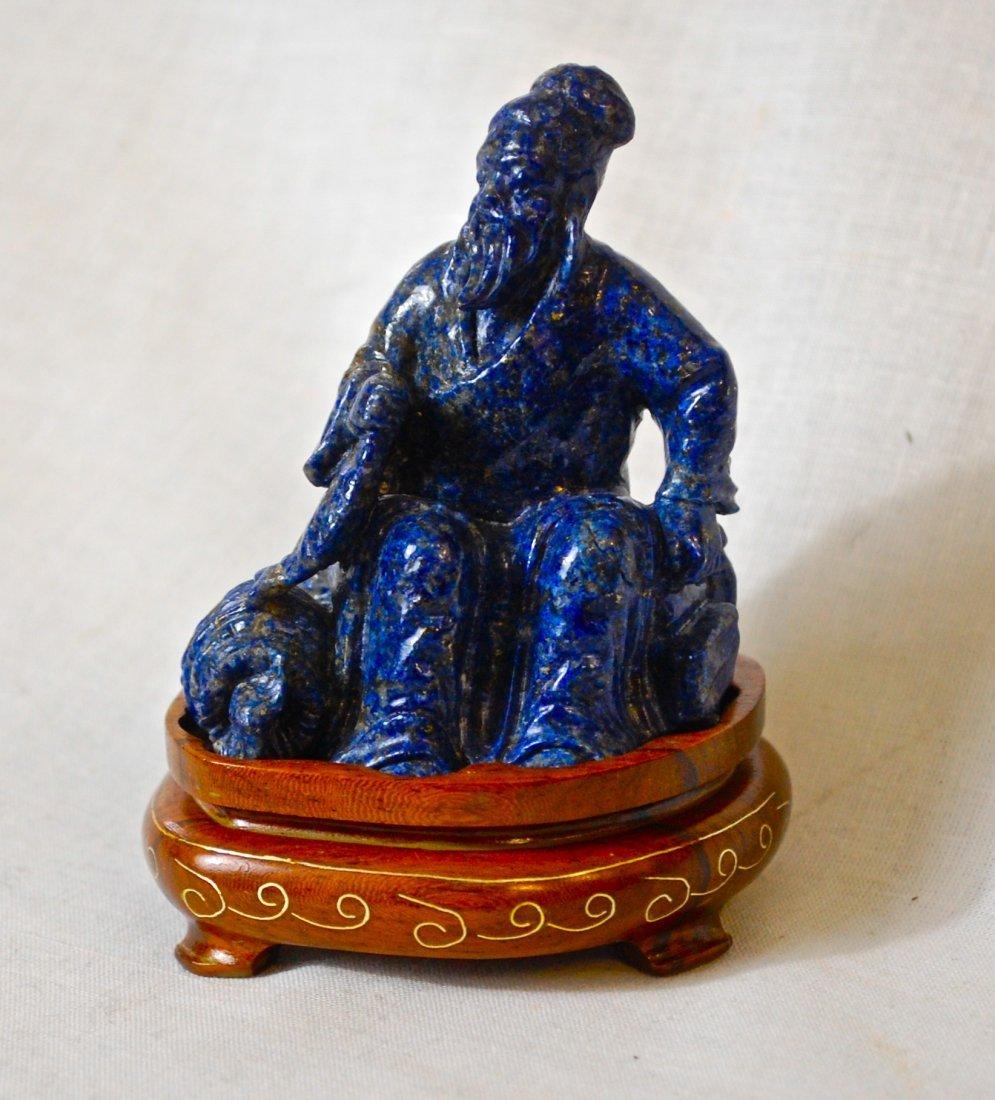 12: Chinese Antique Lapis Lazuli emperor