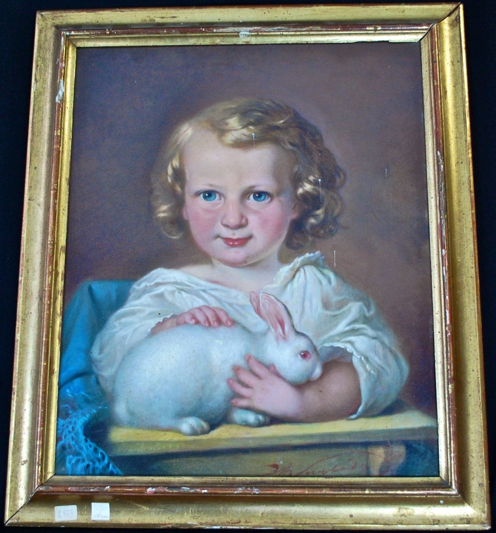 23: Continental school, 19th ct oil on canvas