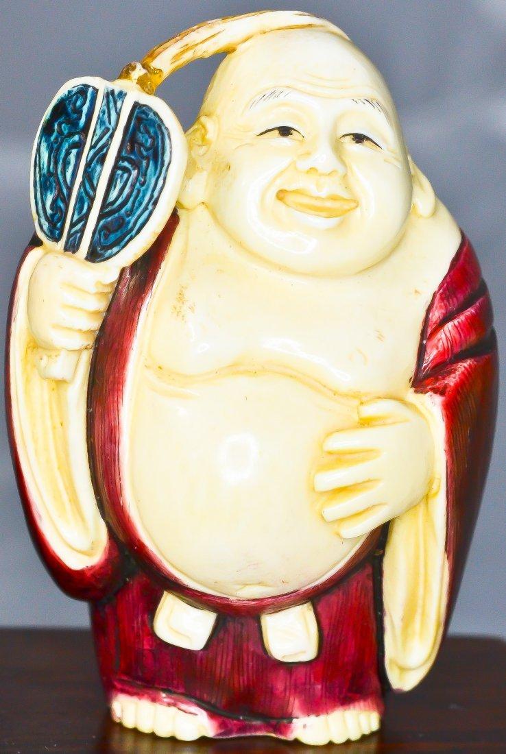 69: 7 Antique carved ivory Japanese Gods of fortune - 10