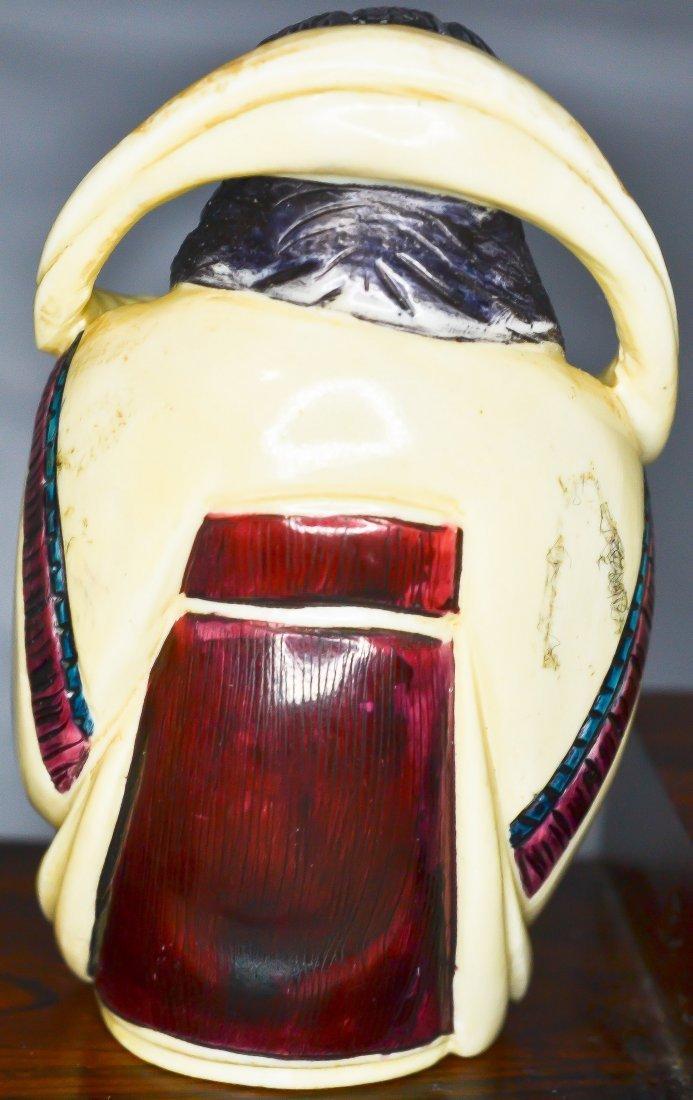 69: 7 Antique carved ivory Japanese Gods of fortune - 5