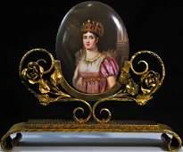 176: 19th ct Sevres porcelain plaque of Josephine Bonap