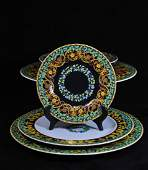 211 Set of 21 Rosenthal porcelain by Versace Gold Ivy