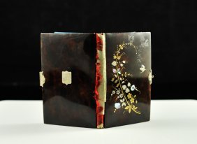 4: Antique French inlaid tortoise shell pocket book