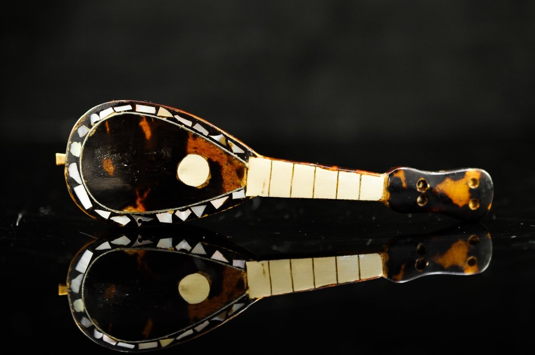5: Miniature Tortoise shell and mother of pearl lute