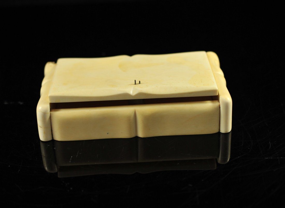 11: Large carved ivory lidded jewelry box