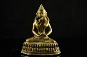 Indian God And Woman Erotic Bronze