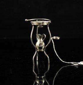 """19: Miniature vintage sterling wash basin. Signed """"Sauh"""