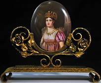 164: 19th ct Sevres porcelain plaque of Josephine Bonap