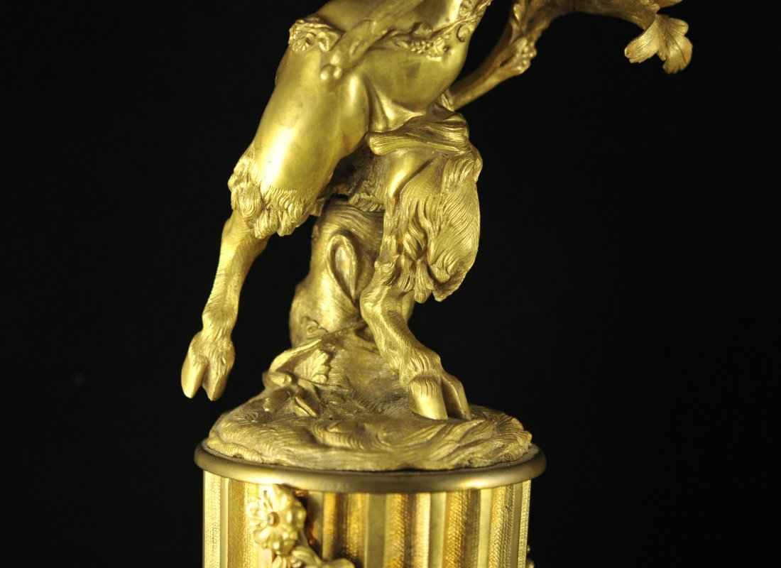247: French dore bronze and marble figural candelabras - 6