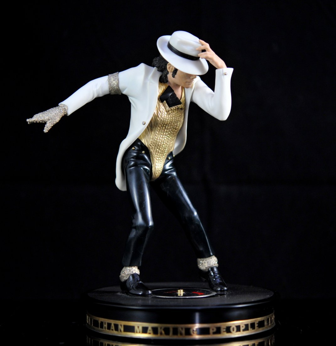 """Sergey Falkin"" Michael Jackson gold and diamond statue"