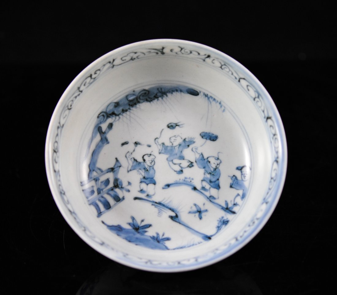 Chinese blue and white wares rice bowl with base